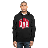 47 Brand Detroit Red Wings Black Joe Louis Arena Farewell Season Headline Pullover Hood