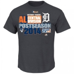 Majestic Men's Detroit Tigers 2014 AL Central Champions Clubhouse Tee