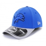 New Era Men's Detroit Lions Blue 39Thirty 2014 Thanksgiving Day Flex Cap