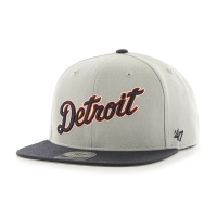 47 Brand Detroit Tigers Black No Shot '47 Captain Snapback Cap